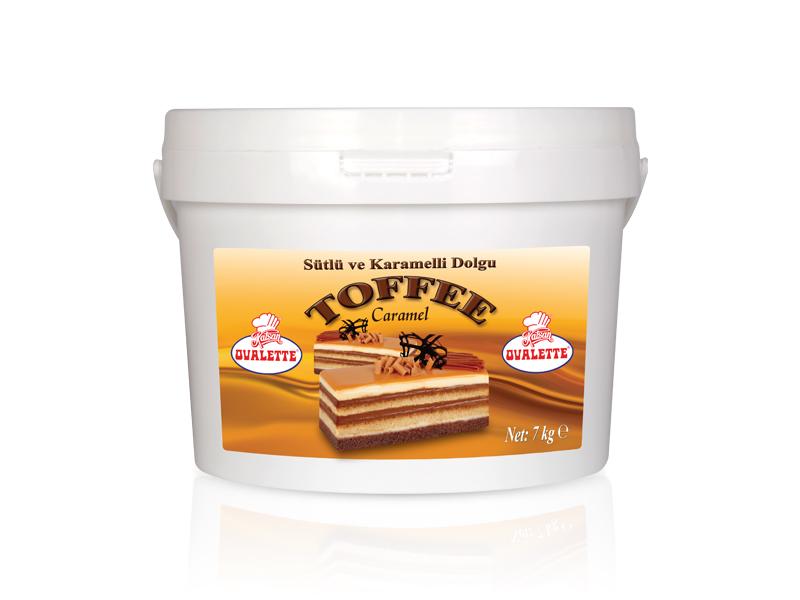 OVALETTE  Toffee Sütlü Karamelli Dolgu 7 Kg