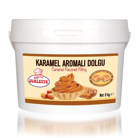 OVALETTE Karamel Aromalı Dolgu 6 Kg