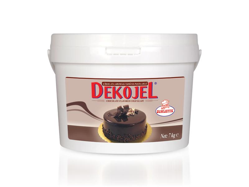 DEKOJEL Çikolata Aromalı Soğuk Pasta Jeli 7 Kg