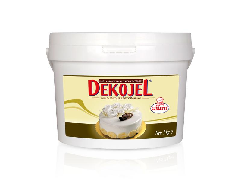 DEKOJEL Vanilya Aromalı Beyaz Soğuk Pasta Jeli 7 Kg