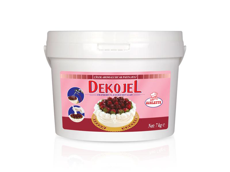 DEKOJEL Çilek Aromalı Sıcak Pasta Jeli 7 Kg