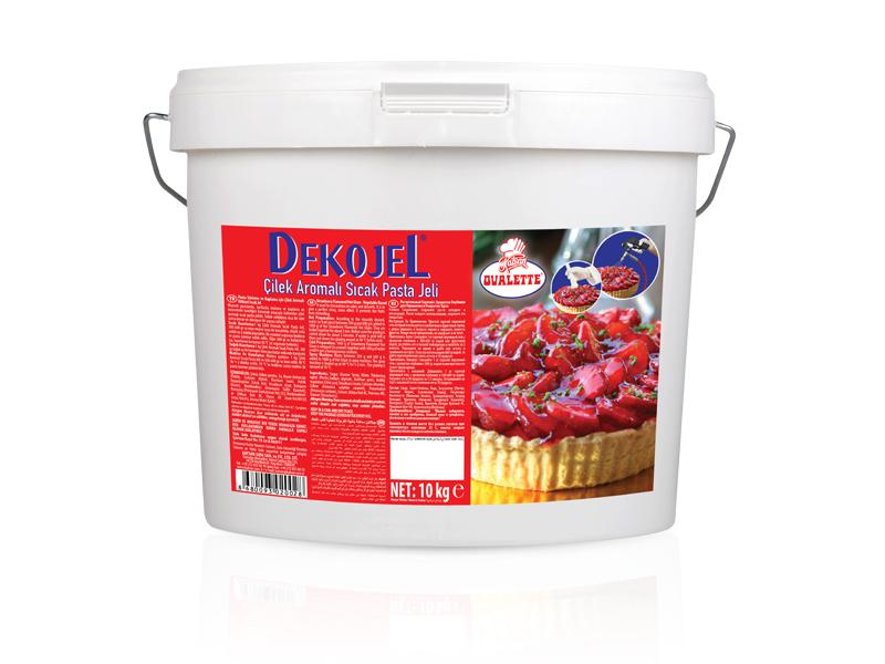 DEKOJEL Çilek Aromalı Sıcak Pasta Jeli 10 Kg