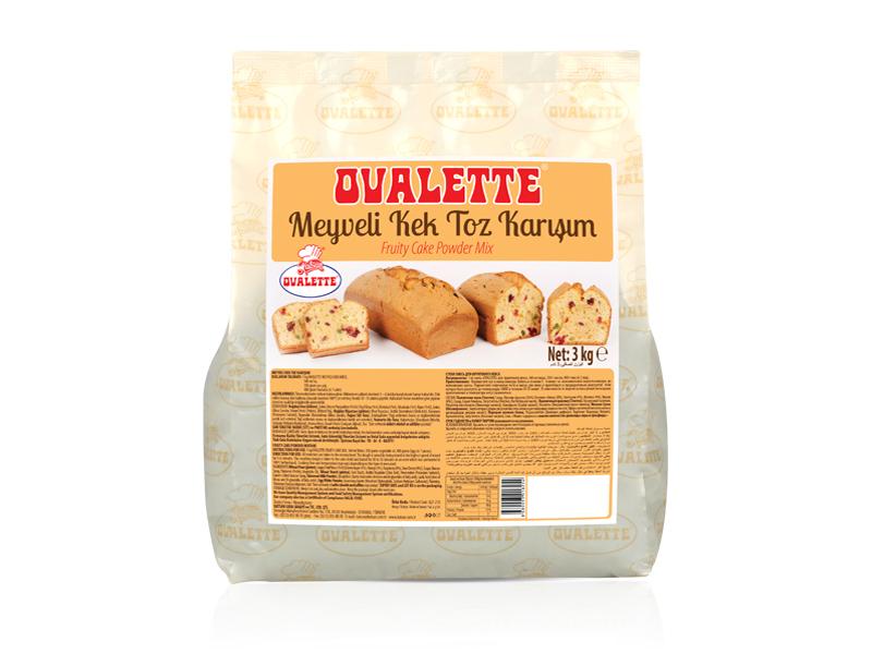 OVALETTE Meyveli Kek Toz Karışımı 3 Kg