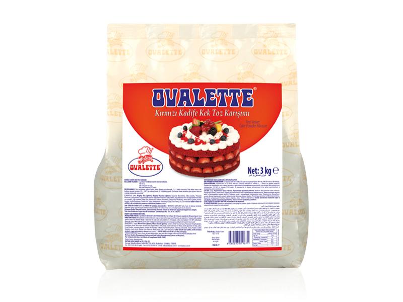 OVALETTE Kırmızı Kadife Kek Toz Karışımı 3 Kg
