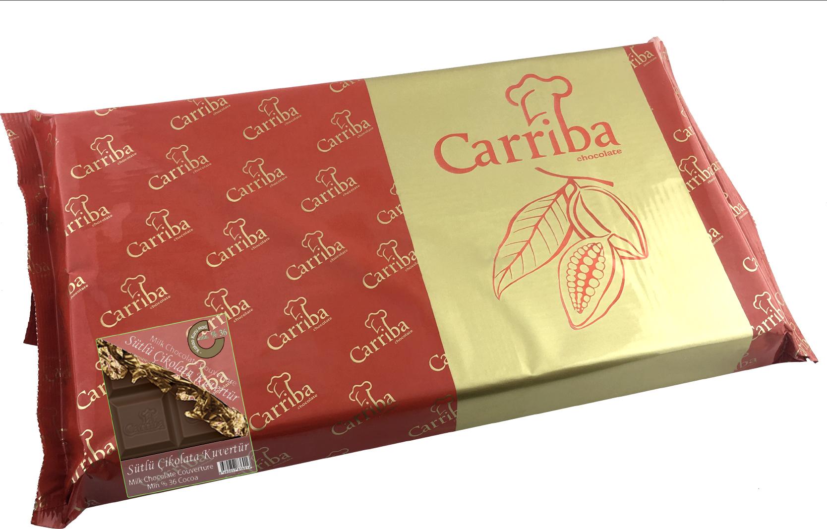 CARRIBA Sütlü Çikolata Kuvertür 2.5 Kg