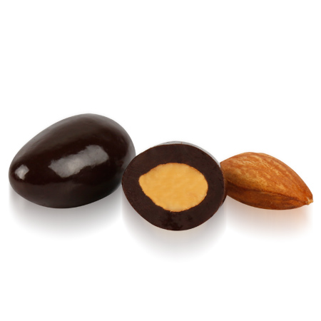 OVALETTE Bitter Çikolatalı Badem Draje 1 Kg