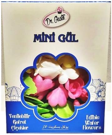 Dr. GUSTO Yenilebilir Gofret Çiçekler (Mini)