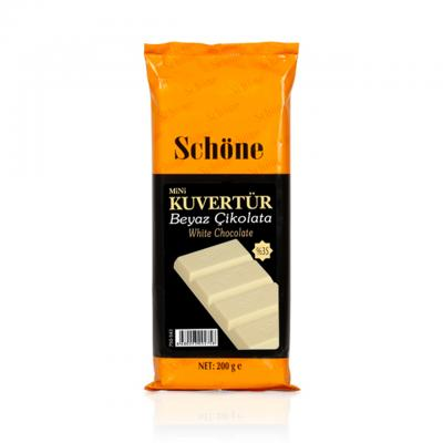 SCHÖNE Beyaz Çikolatalı Mini Kuvertür 200 gr