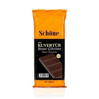 SCHÖNE Bitter Çikolatalı Mini Kuvertür 200 Gr