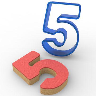 5 Rakamı Polikarbon Kesici