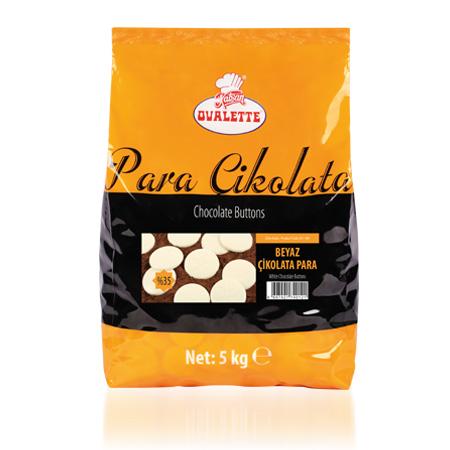 OVALETTE Beyaz Para Çikolata 5 Kg