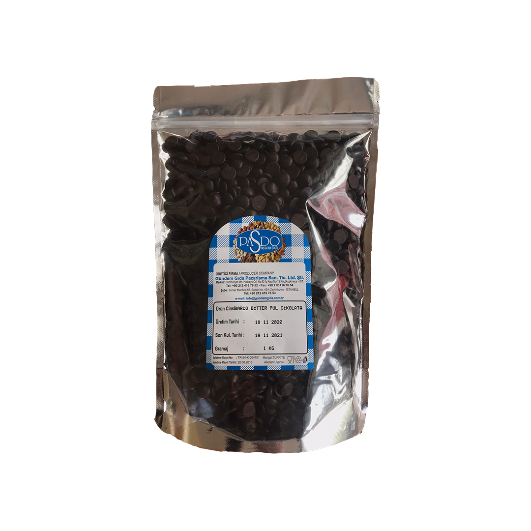 BARLO Premium %71.5 Bitter Pul Çikolata 1 Kg