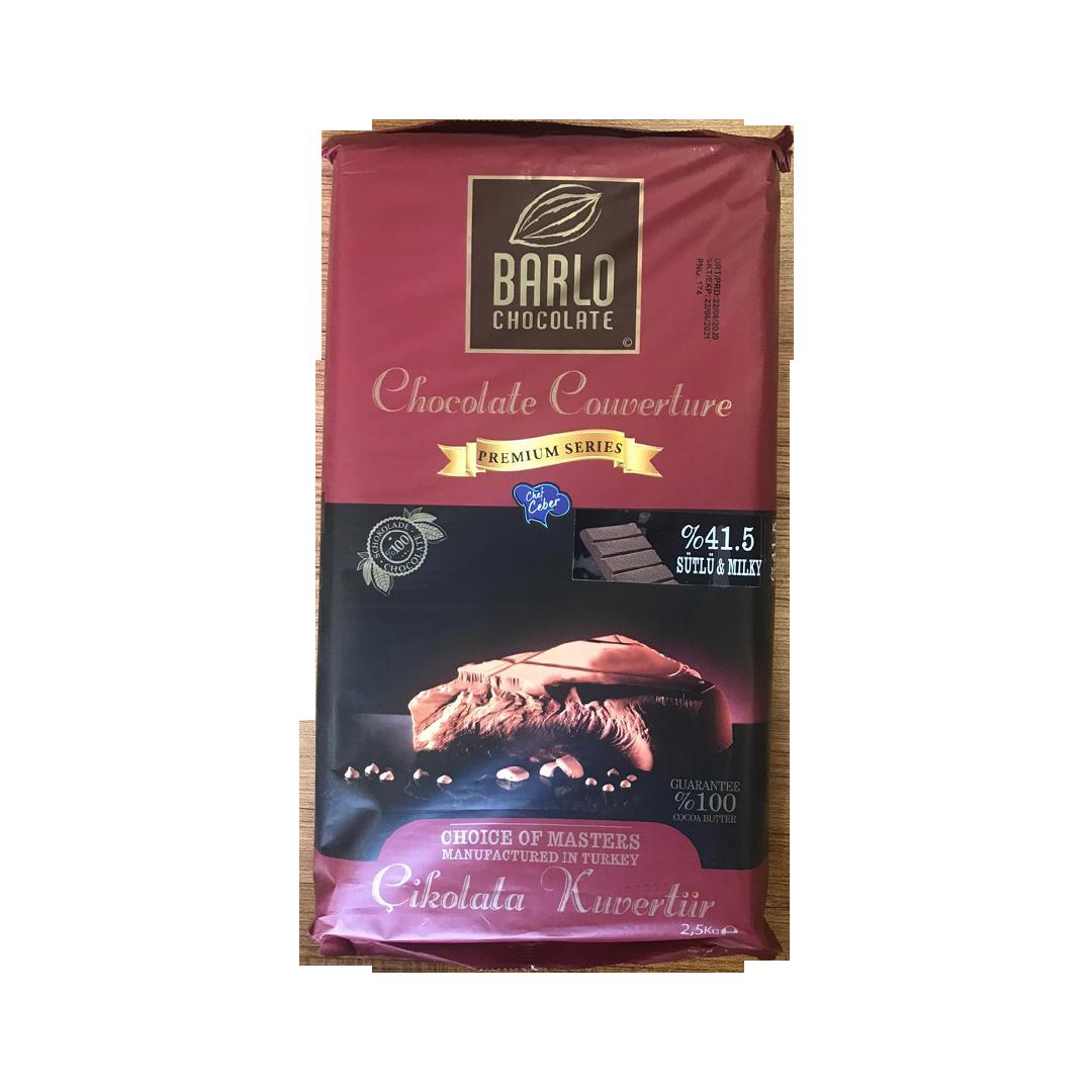 BARLO Premium Series %41.5 Sütlü Çikolatalı Kuvertür 2.5 Kg