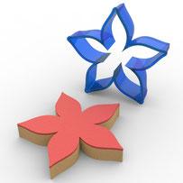Çiçek Polikarbon Kopat Kurabiye Kalıbı