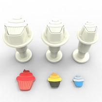 Cupcake 3'lü Mini Enjektörlü Kopat