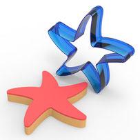 Deniz Yıldızı Polikarbon Kopat Kurabiye Kalıbı