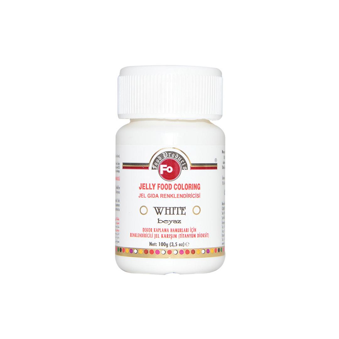 FO Beyaz Jel Gıda Renklendiricisi 100 Gr