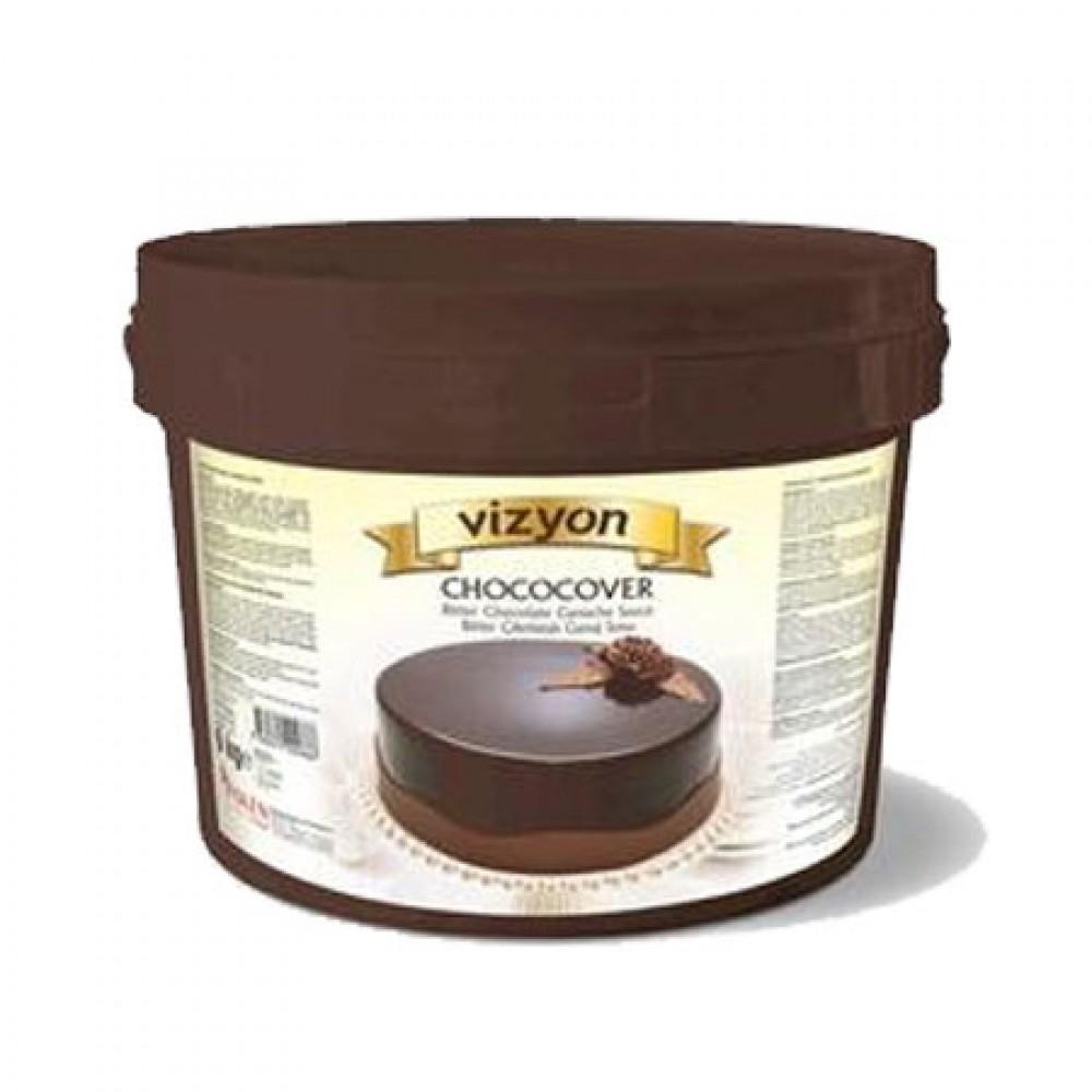 VİZYON Chococover Bitter Çikolatalı Ganaj Sosu 6KG