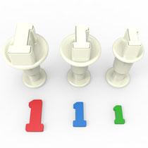 1 Rakamı 3'lü Mini Enjektörlü Kopat