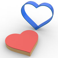Kalp Polikarbon Kopat Kurabiye Kalıbı