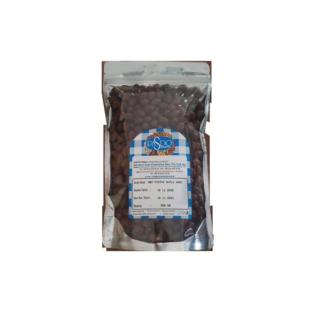 PASDO Mat Fıstık Sütlü İnce Draje 500 GR