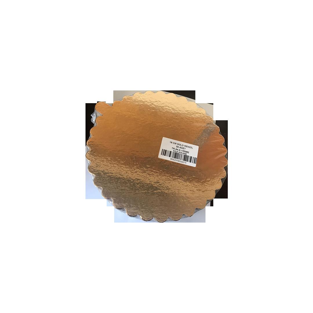 Pasta Altlığı 18 CM Gold Mendil 50 Adet