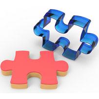 Puzzle Polikarbon Kopat Kurabiye Kalıbı