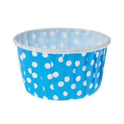 BENS Silindir Kek Kalıbı Puantiyeli Mavi (43.5×37)