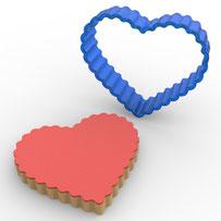 Tırtıklı Kalp Polikarbon Kopat Kurabiye Kalıbı