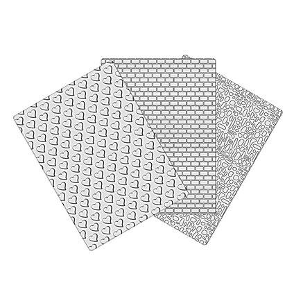 Doku Kalıbı Set 1 Kalp/Deri/Tuğla