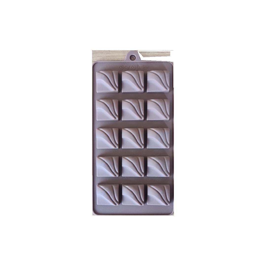 Dalgalı Silikon Çikolata Kalıbı