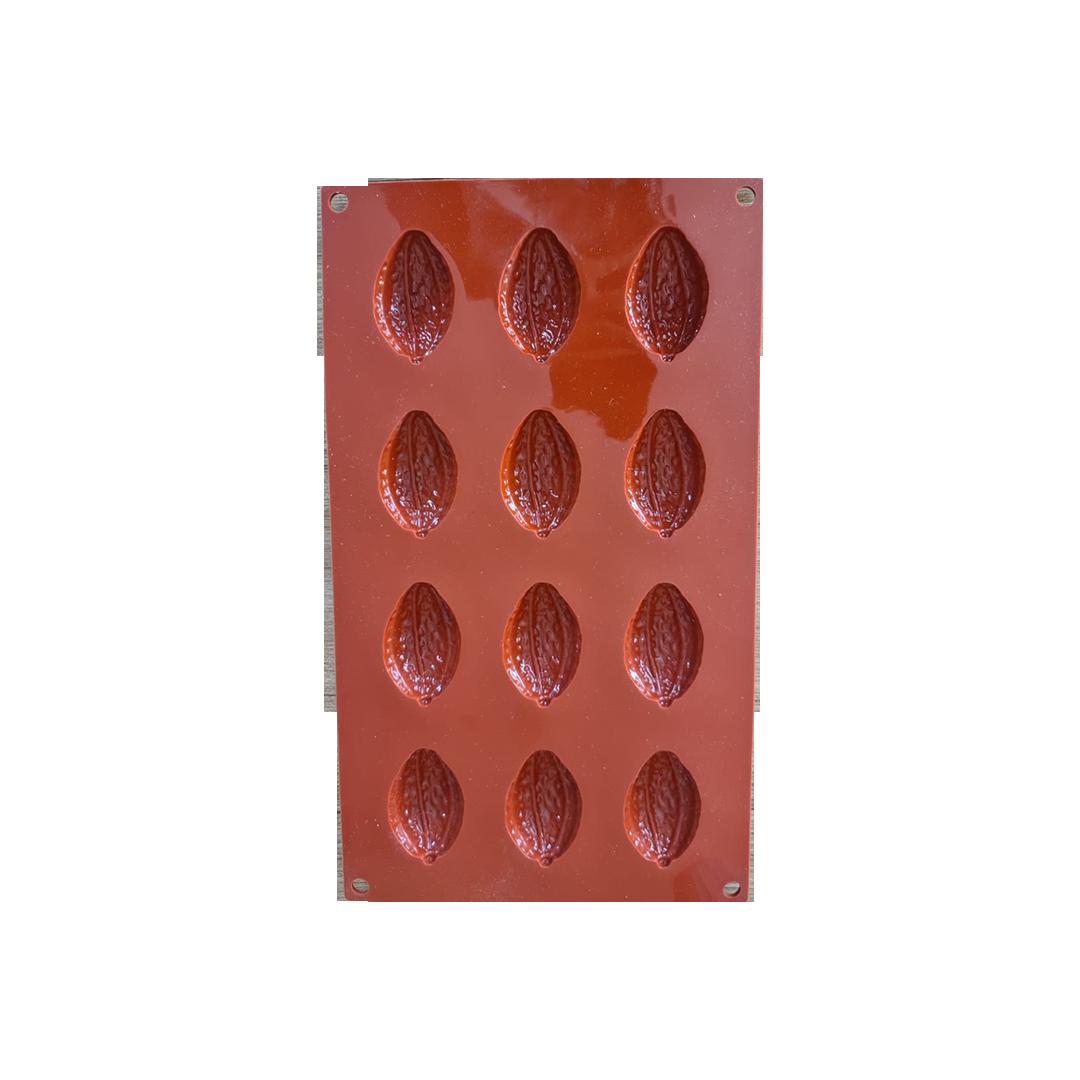 Kakao Çekirdeği Silikon Çikolata Kalıbı