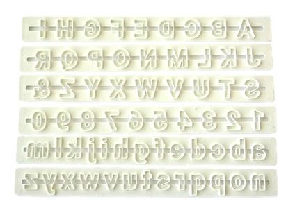 Alfabe Cetvel Set 6 Parça Tüm Harfler ve Rakamlar