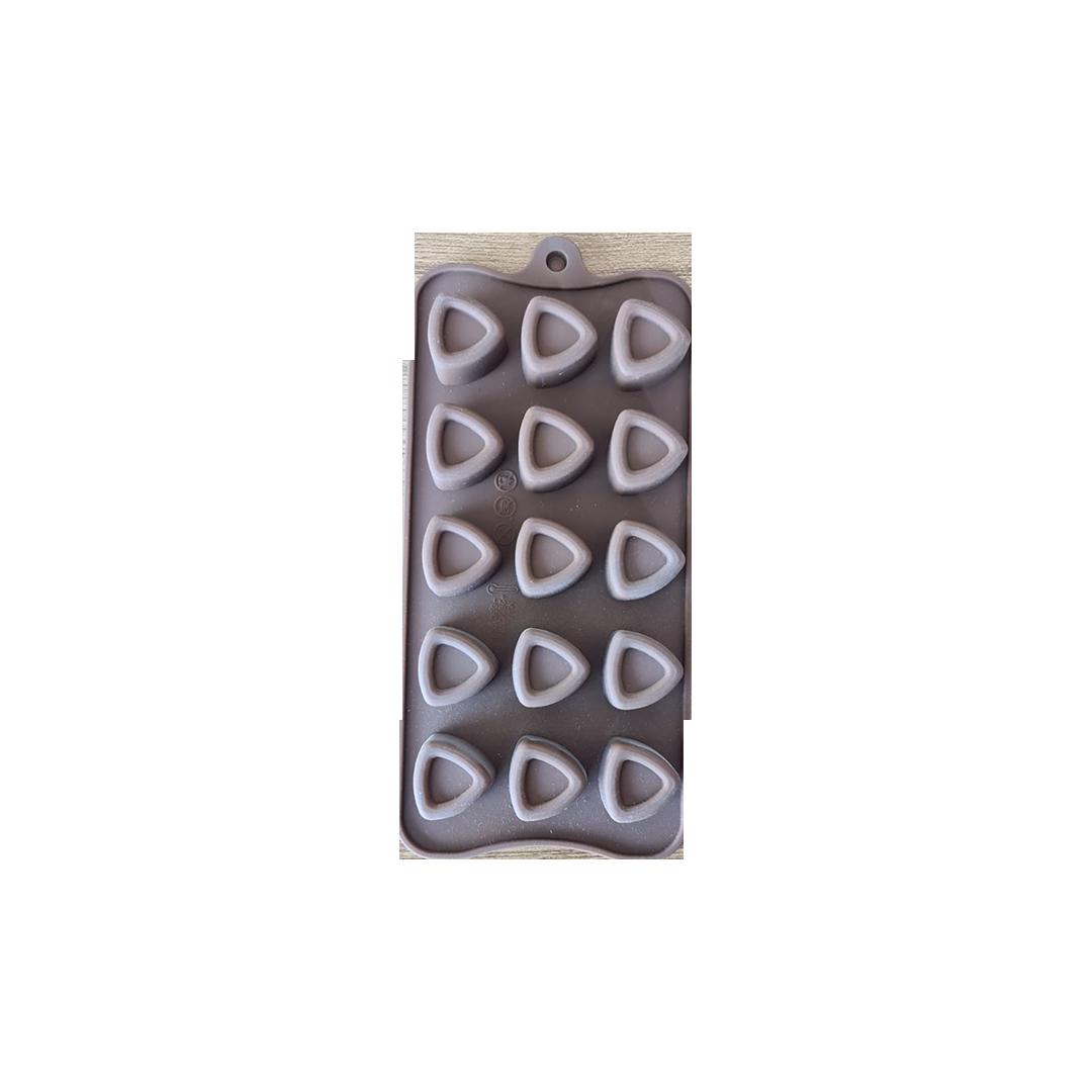 Üçgen Silikon Çikolata Kalıbı