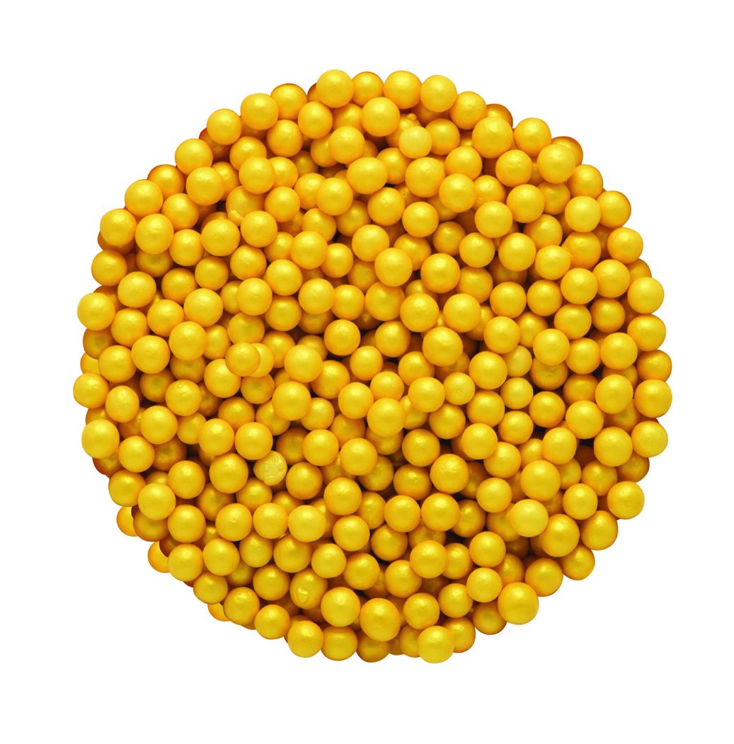 DR GUSTO 4 mm Altın Renkli Boncuk 45 gr