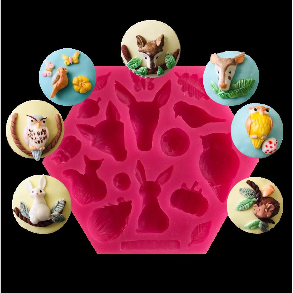 CESİL Hayvanlar Alemi Set – 2 Şeker Hamuru Modelleme Kalıbı