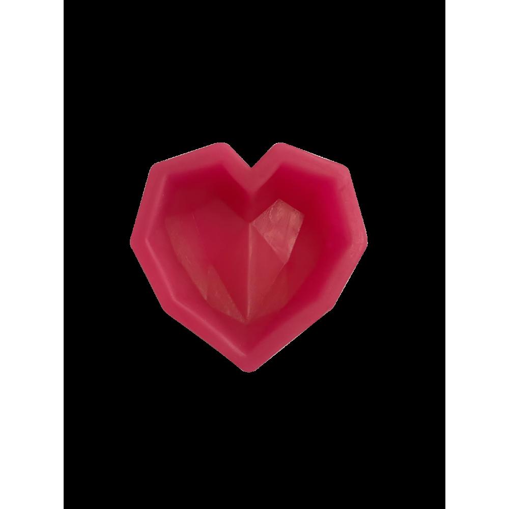 CESİL Silikon Elmas Kalp Şeker Hamuru Modelleme Kalıbı